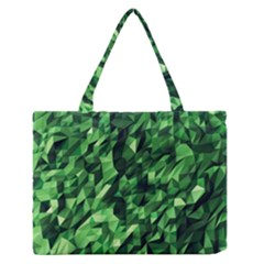 Green Attack Medium Zipper Tote Bag