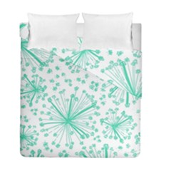Pattern Floralgreen Duvet Cover Double Side (full/ Double Size)