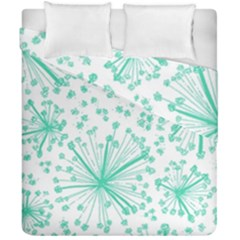 Pattern Floralgreen Duvet Cover Double Side (california King Size)