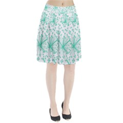 Pattern Floralgreen Pleated Skirt