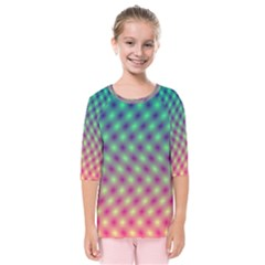 Art Patterns Kids  Quarter Sleeve Raglan Tee