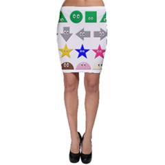 Cute Symbol Bodycon Skirt