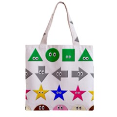 Cute Symbol Zipper Grocery Tote Bag by Nexatart