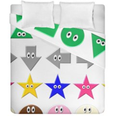 Cute Symbol Duvet Cover Double Side (california King Size)