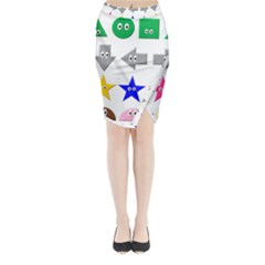 Cute Symbol Midi Wrap Pencil Skirt