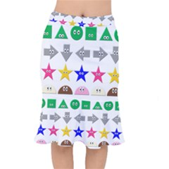 Cute Symbol Mermaid Skirt by Nexatart