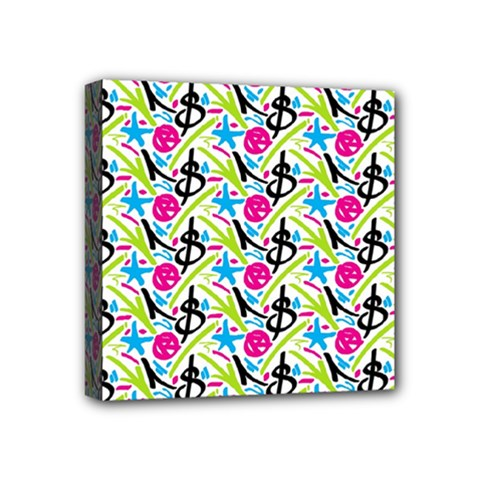 Cool Graffiti Patterns  Mini Canvas 4  X 4