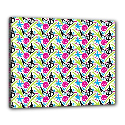 Cool Graffiti Patterns  Canvas 20  X 16  by Nexatart
