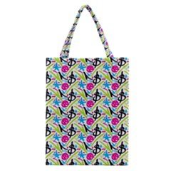 Cool Graffiti Patterns  Classic Tote Bag