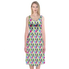 Cool Graffiti Patterns  Midi Sleeveless Dress