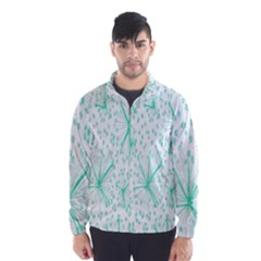 Pattern Floralgreen Wind Breaker (men)