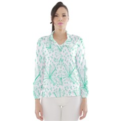 Pattern Floralgreen Wind Breaker (women)