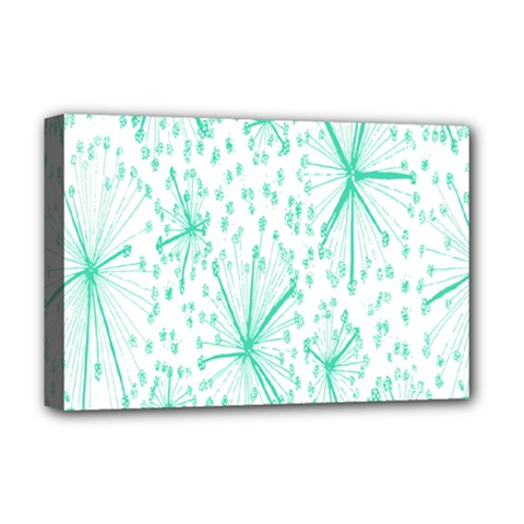 Pattern Floralgreen Deluxe Canvas 18  X 12