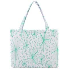 Pattern Floralgreen Mini Tote Bag by Nexatart