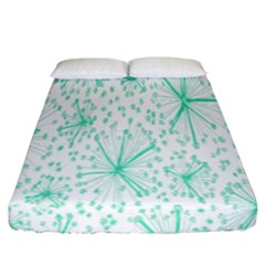 Pattern Floralgreen Fitted Sheet (california King Size)