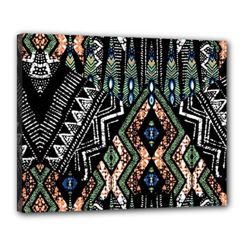 Ethnic Art Pattern Canvas 20  X 16  by Nexatart