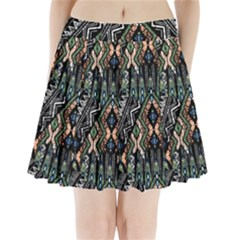 Ethnic Art Pattern Pleated Mini Skirt