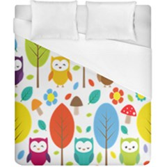 Cute Owl Duvet Cover (california King Size)