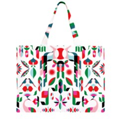 Abstract Peacock Large Tote Bag by Nexatart