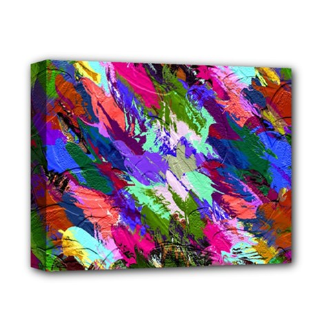 Tropical Jungle Print And Color Trends Deluxe Canvas 14  X 11