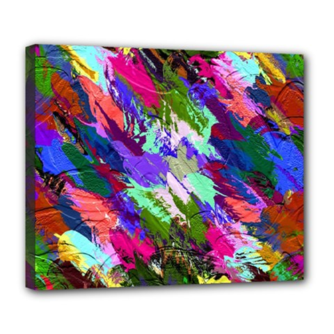 Tropical Jungle Print And Color Trends Deluxe Canvas 24  X 20   by Nexatart