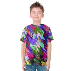 Tropical Jungle Print And Color Trends Kids  Cotton Tee