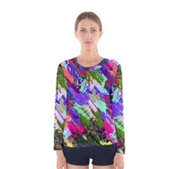 Tropical Jungle Print And Color Trends Women s Long Sleeve Tee