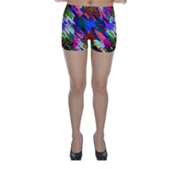 Tropical Jungle Print And Color Trends Skinny Shorts