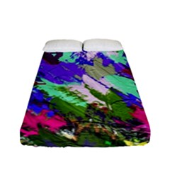 Tropical Jungle Print And Color Trends Fitted Sheet (full/ Double Size)