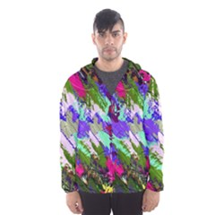Tropical Jungle Print And Color Trends Hooded Wind Breaker (men)