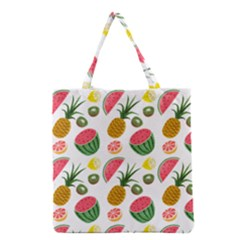 Fruits Pattern Grocery Tote Bag by Nexatart
