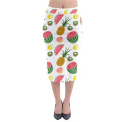 Fruits Pattern Midi Pencil Skirt by Nexatart