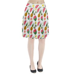 Fruits Pattern Pleated Skirt