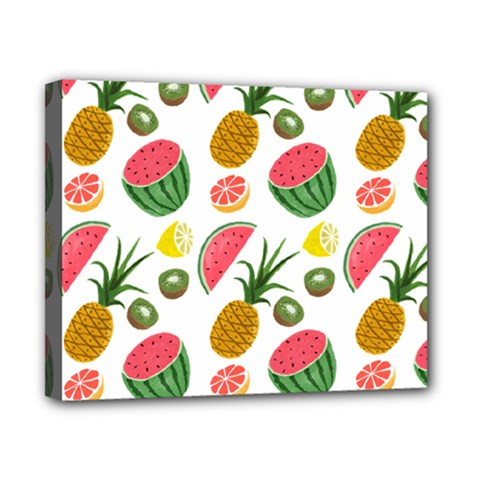Fruits Pattern Canvas 10  X 8  by Nexatart