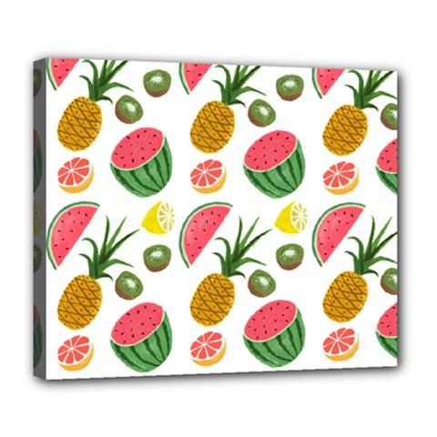 Fruits Pattern Deluxe Canvas 24  X 20