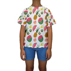 Fruits Pattern Kids  Short Sleeve Swimwear