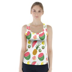 Fruits Pattern Racer Back Sports Top