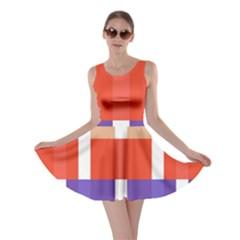 Compound Grid Skater Dress