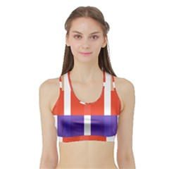 Compound Grid Sports Bra With Border