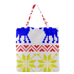 Jacquard With Elks Grocery Tote Bag
