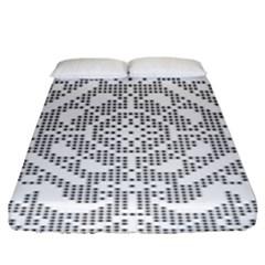 Mosaic Pattern Cyberscooty Museum Pattern Fitted Sheet (king Size) by Nexatart