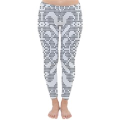 Mosaic Pattern Cyberscooty Museum Pattern Classic Winter Leggings