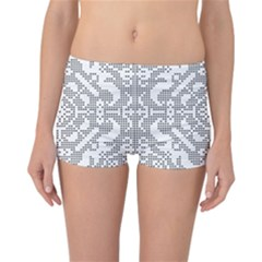 Mosaic Pattern Cyberscooty Museum Pattern Reversible Bikini Bottoms