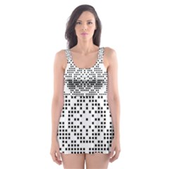 Mosaic Pattern Cyberscooty Museum Pattern Skater Dress Swimsuit
