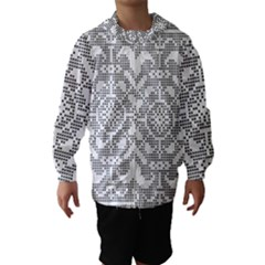Mosaic Pattern Cyberscooty Museum Pattern Hooded Wind Breaker (kids)
