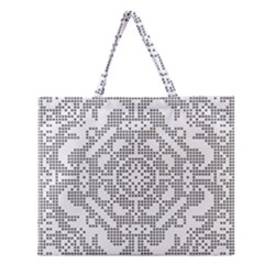 Mosaic Pattern Cyberscooty Museum Pattern Zipper Large Tote Bag by Nexatart