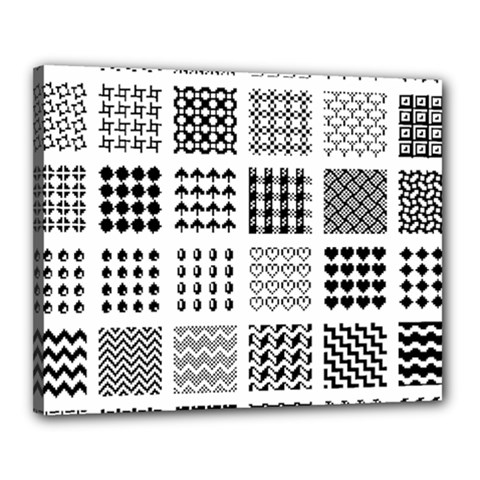 Retro Patterns Canvas 20  X 16