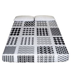 Retro Patterns Fitted Sheet (california King Size) by Nexatart
