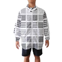 Retro Patterns Wind Breaker (kids)