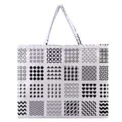 Retro Patterns Zipper Large Tote Bag by Nexatart